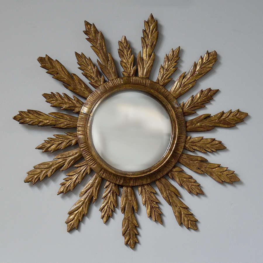 Italian Giltwood sunburst mirror c1930-40