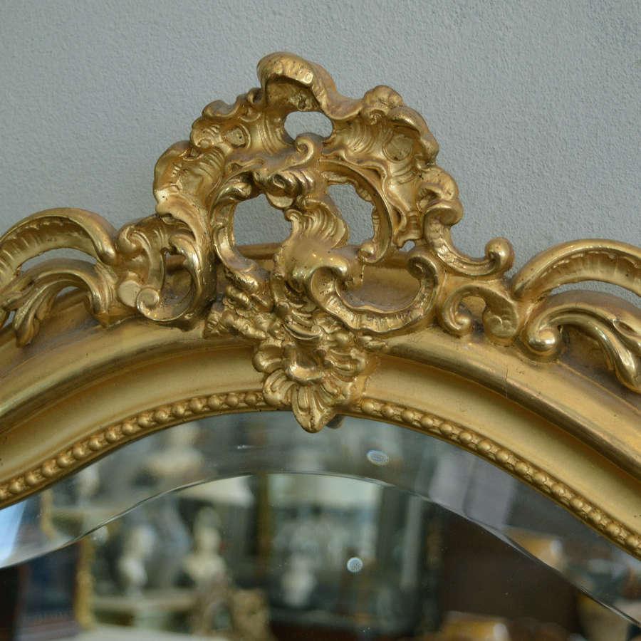 Late 19th Century Louis XV gilt mirror