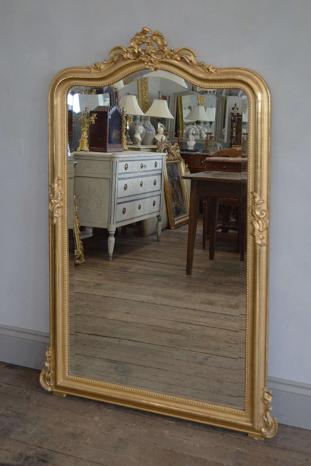Late 19th Century Louis XV gilt mirror
