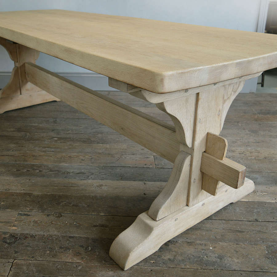 Large Heavy Oak Monastery Table