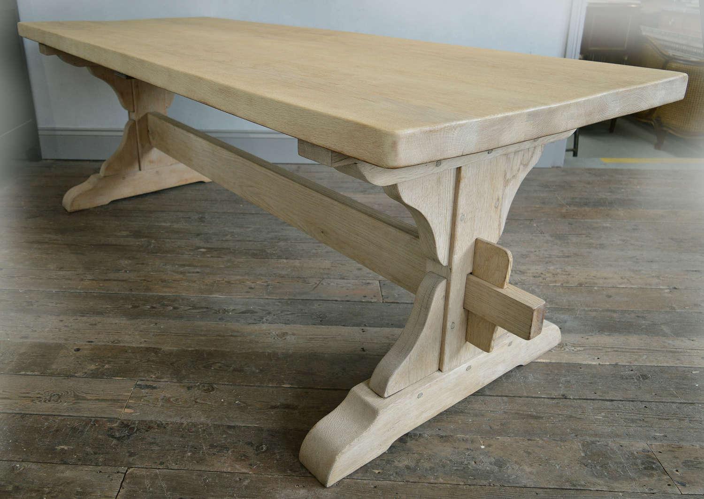 Large Heavy Oak Monastery Table
