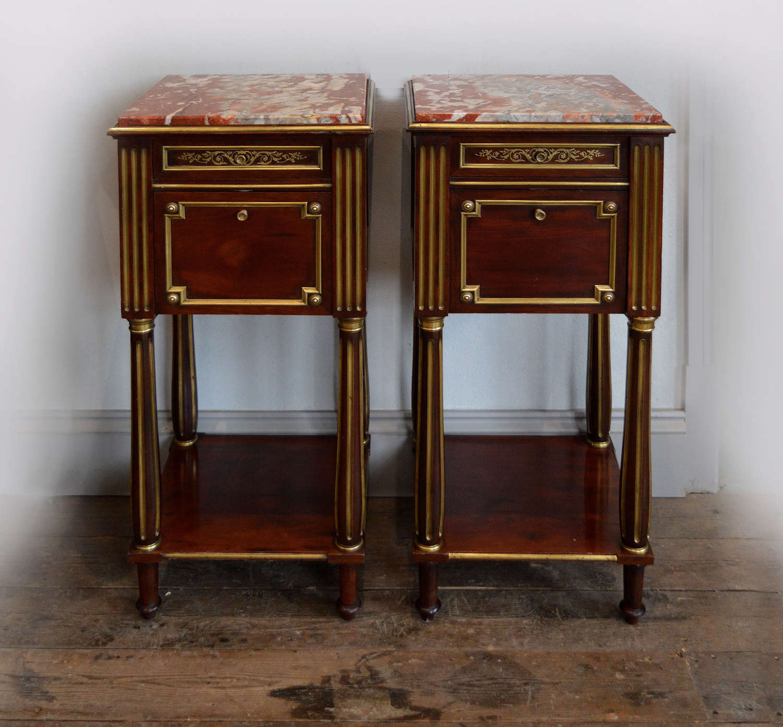 Rare pair of Mid 19th Century Napoleon III bedsides