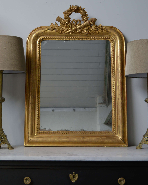 Mid 19th Century Louis Philippe gilt mirror