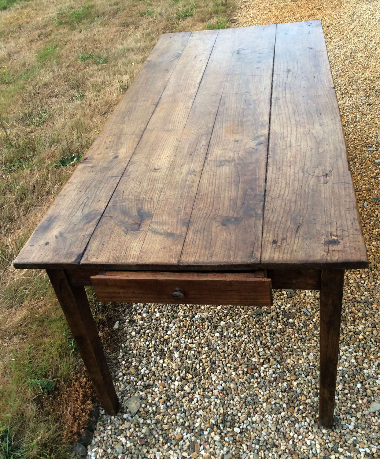 19th Century Cherry & Oak farmhouse table