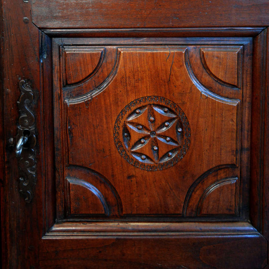Small early 18th Century Louis XIV cherry armoire