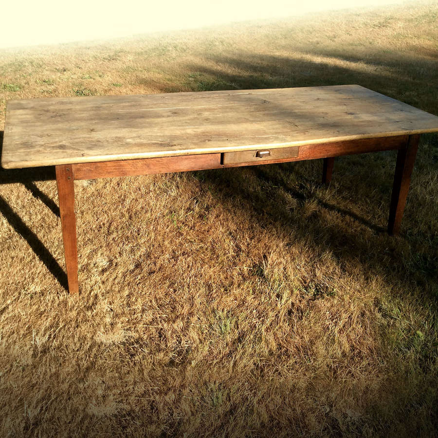 Large 19th Century weathered oak farmhouse table
