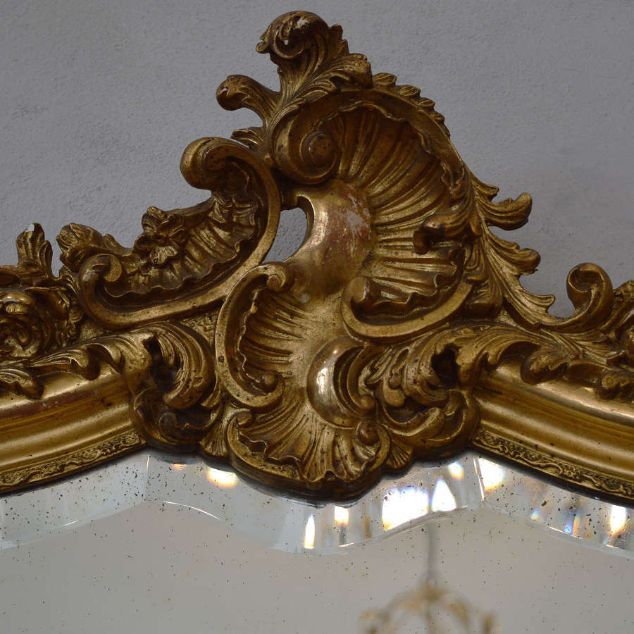19th Century Louis XV style gilt mirror