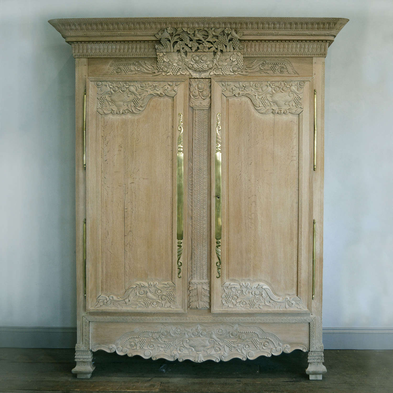 Large 19th Century Norman Marriage Armoire