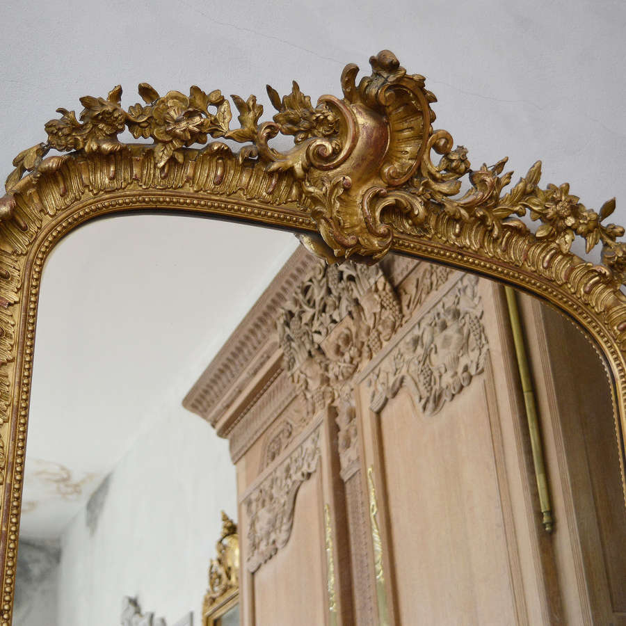 Large 19th Century Louis XV style gilt mirror