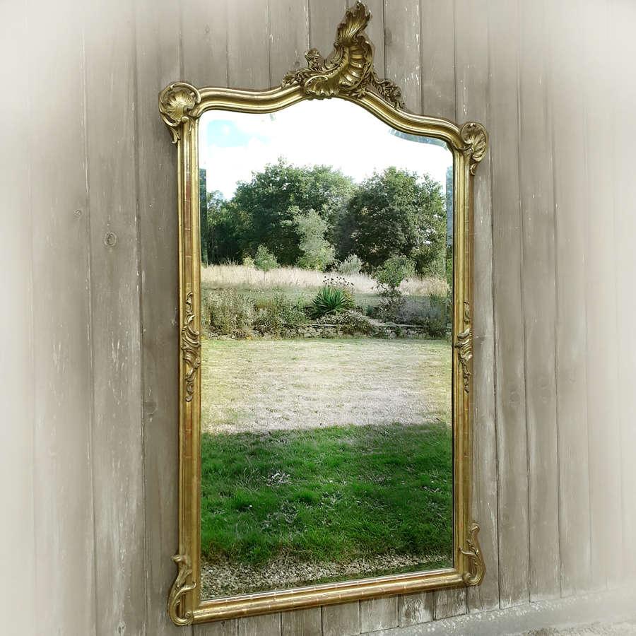 Large Mid 19th Century Louis XV gilt mirror