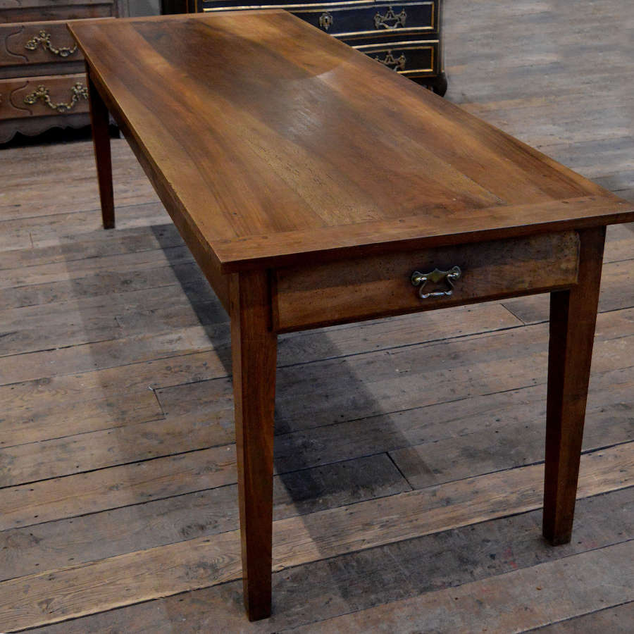 19th Century Walnut Farmhouse Table