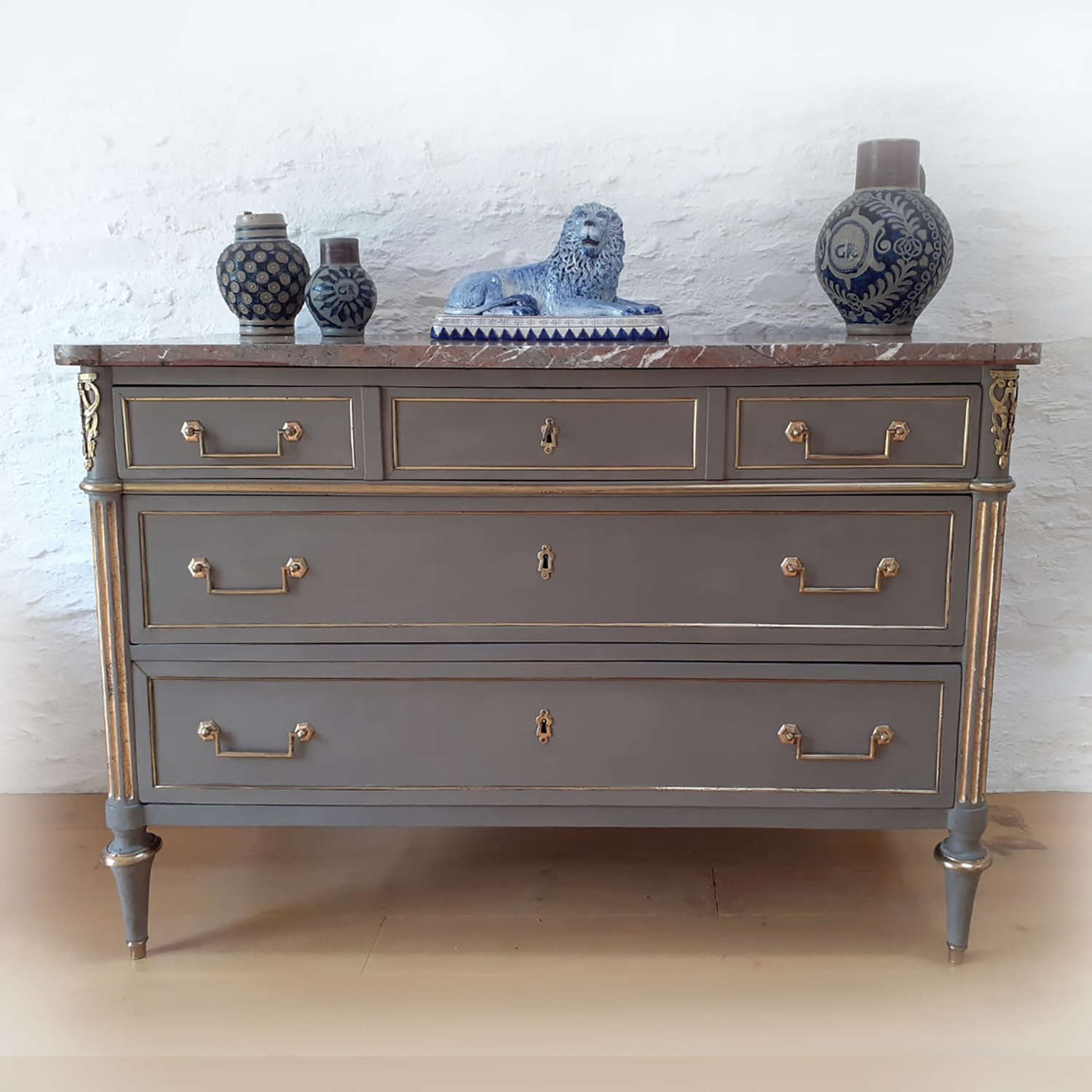 Late 18th/Early 19th Century Directoire marble top commode