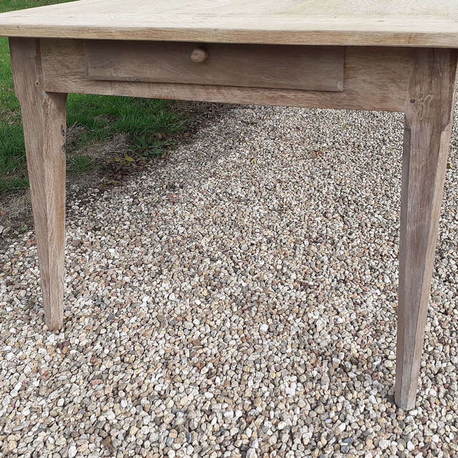 Large 19th Century Bleached Oak Farmhouse Table