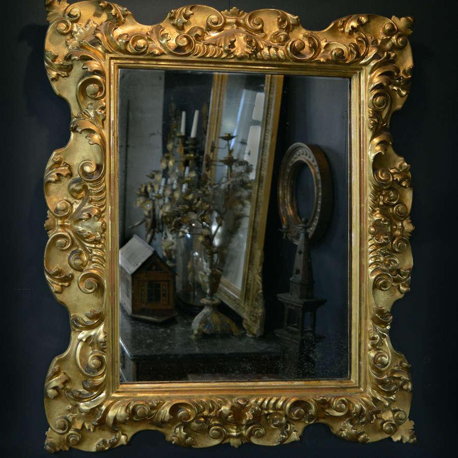 19th Century Italian Florentine Gilt-wood Mirror