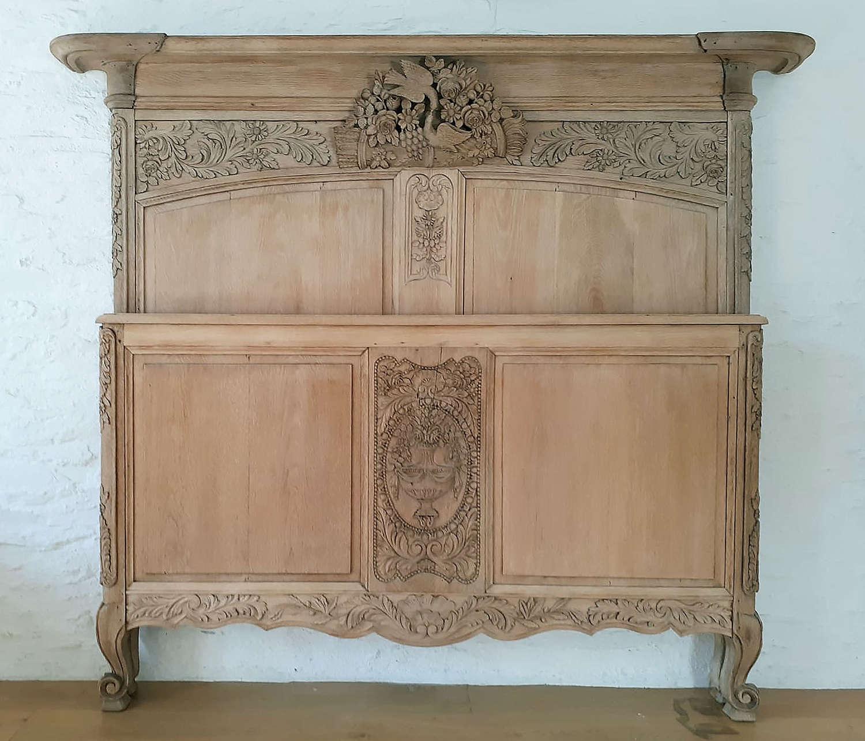 Oak King-size 19th Century Norman Marriage Bedstead