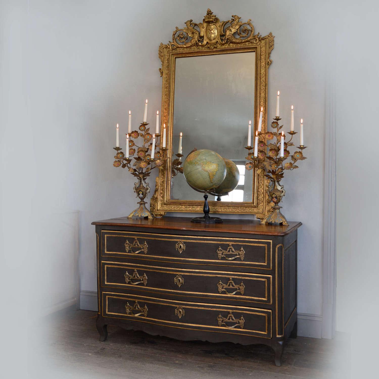Mid 18th Century Louis XV Walnut Commode