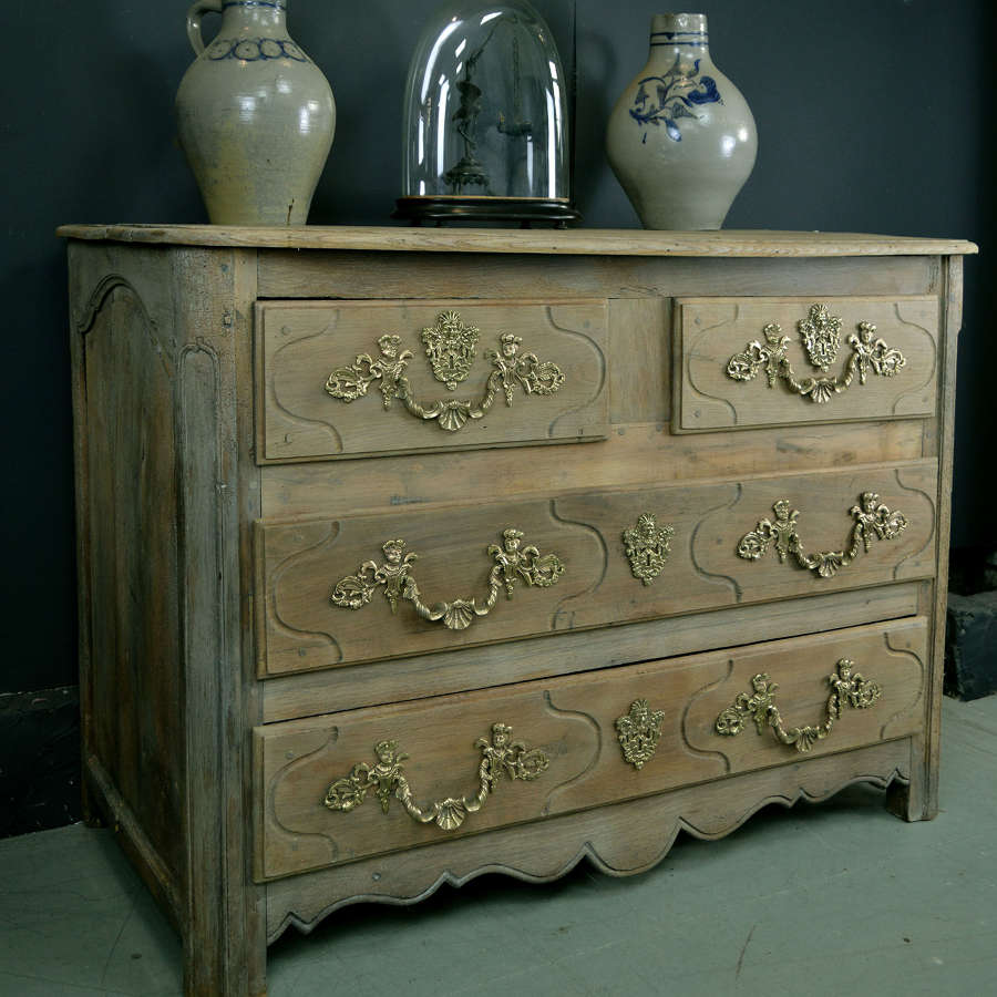 Early 18th Century Louis XIV oak commode