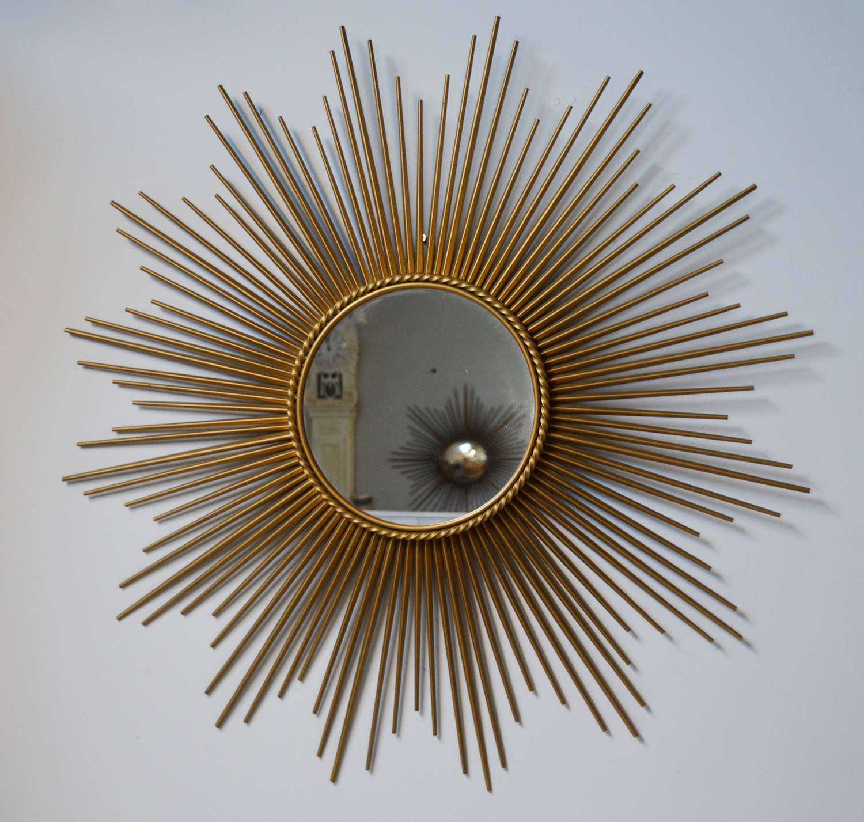 Large Mid Century Chaty Vallauris Sun Mirror