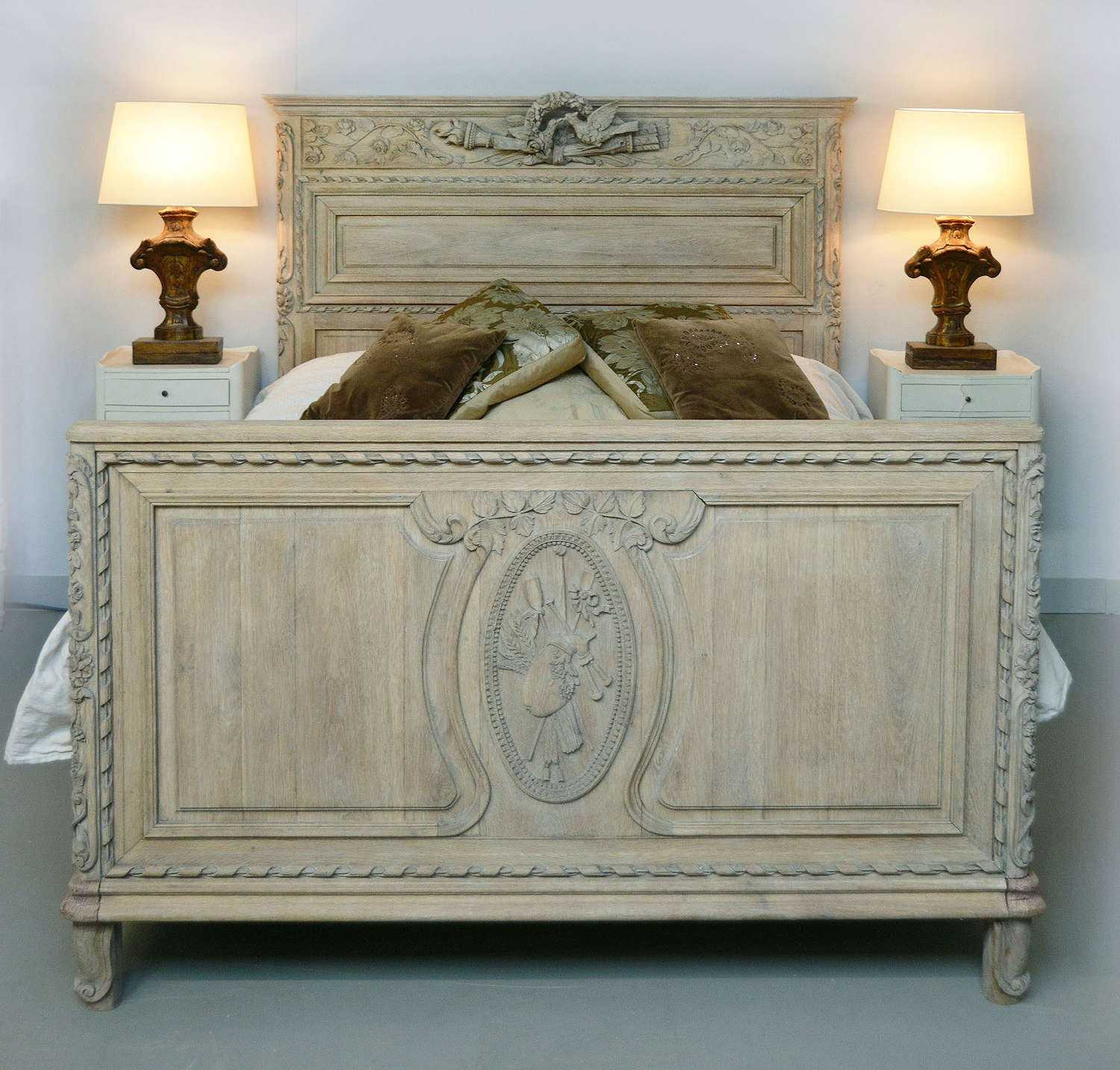 18th Century Oak Norman Marriage bed