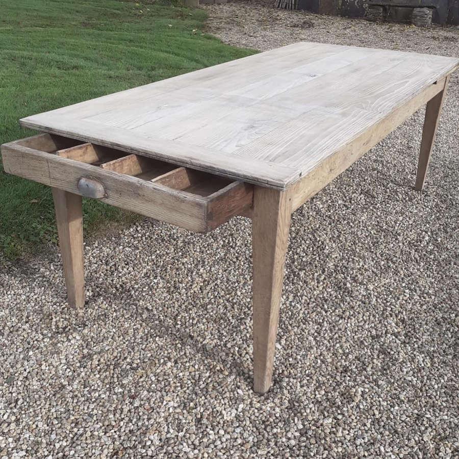 19th Century Chestnut & Oak Farmhouse Extending Table