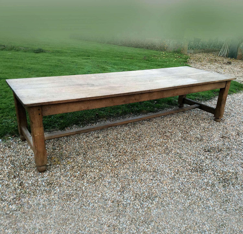 Large 3 meter Oak Refectory Table