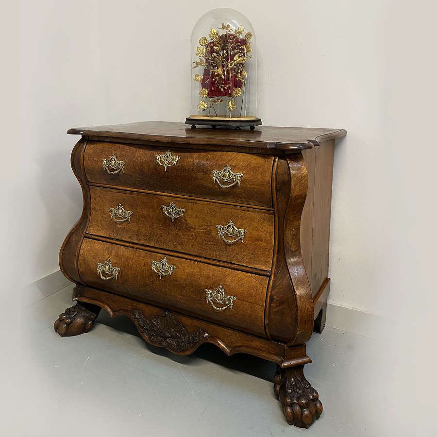 Small late 18th Century Dutch Bombe commode