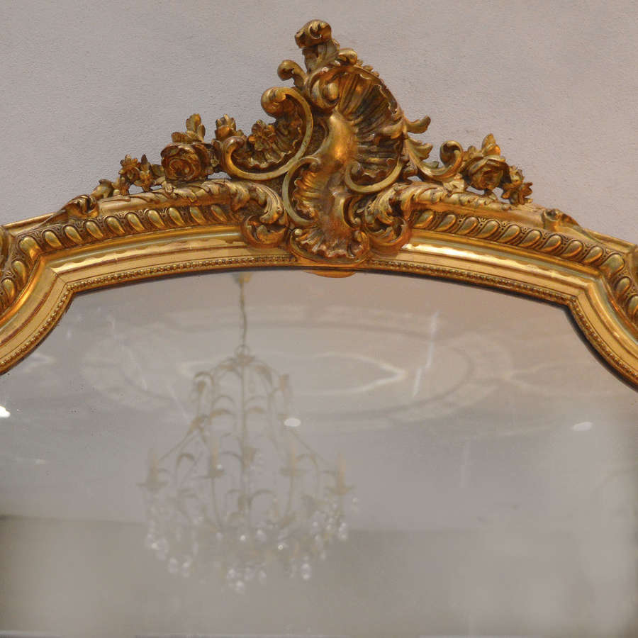Mid 19th Century Napoleon III gilt Mirror