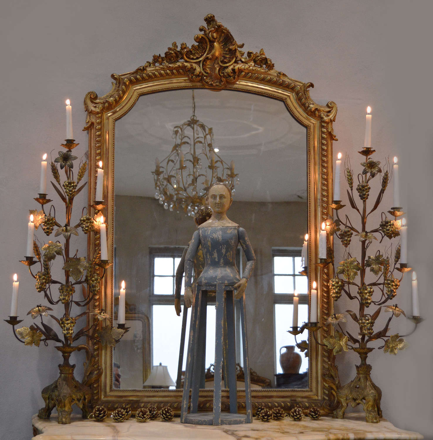 Mid 19th Century Napoleon III gilt Mirror