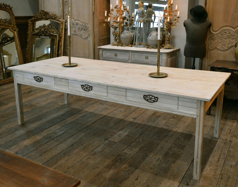 Large oak 1920's Chateau kitchen work/prep table