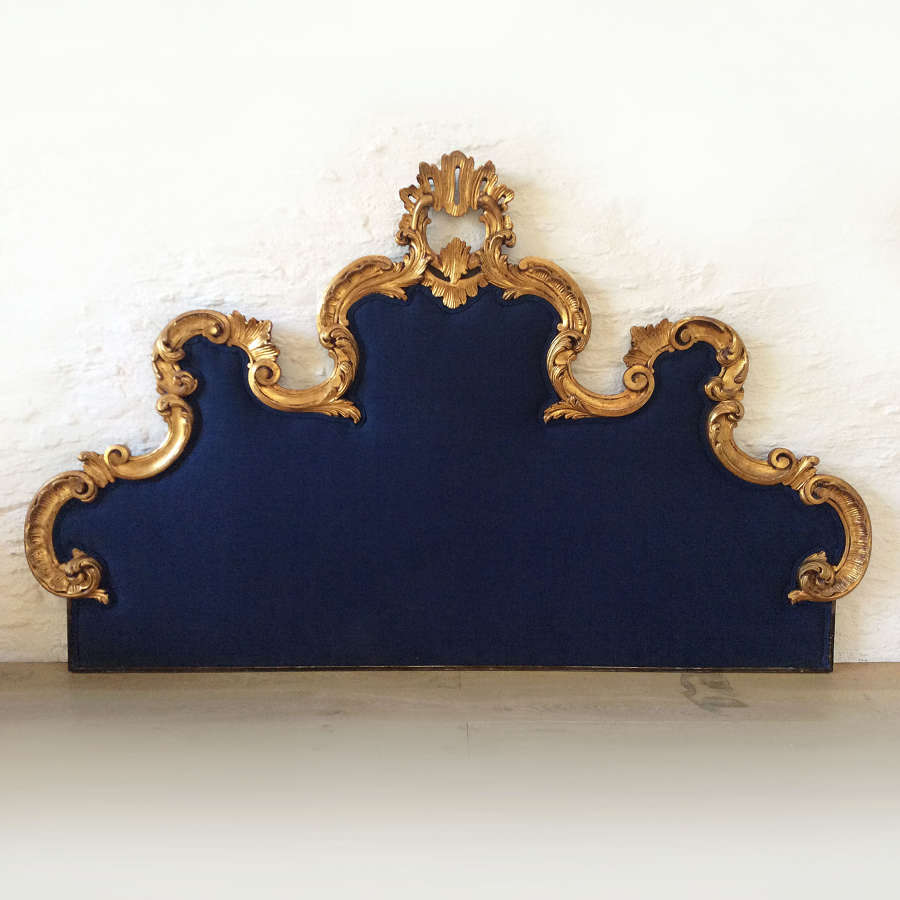 19th century gilt wood Venetian headboard