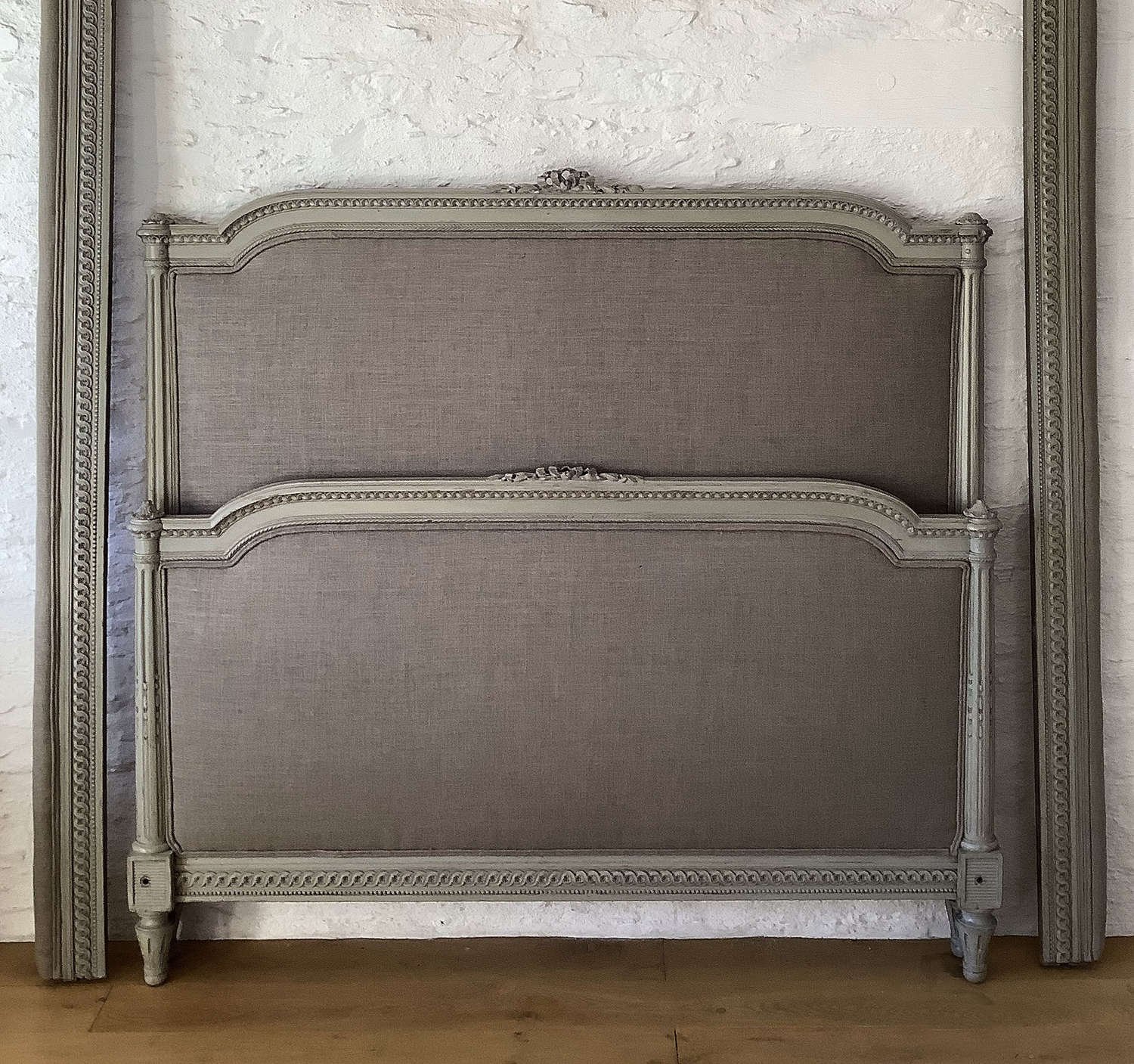 19th Century King size Louis XVI style bedstead