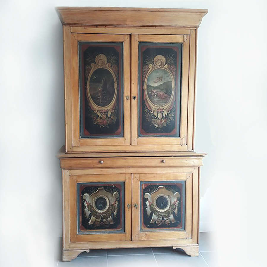 19th Century Louis Philippe Hand-painted Two part Buffet