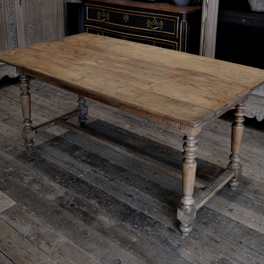 Small oak refectory table