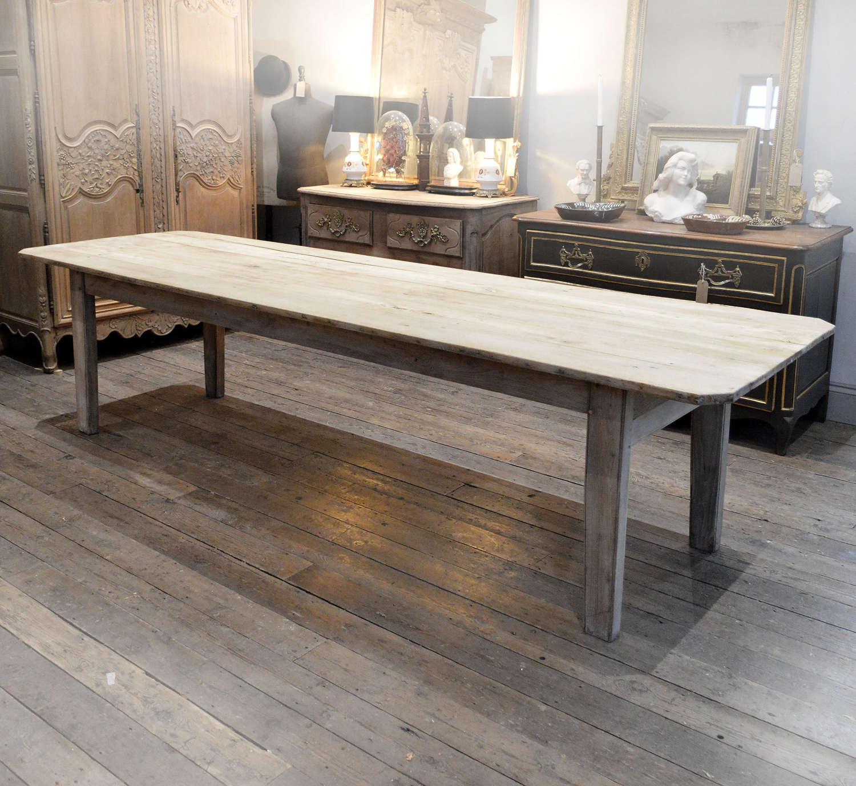 Large 3m Early 19th century Chestnut Farmhouse Table