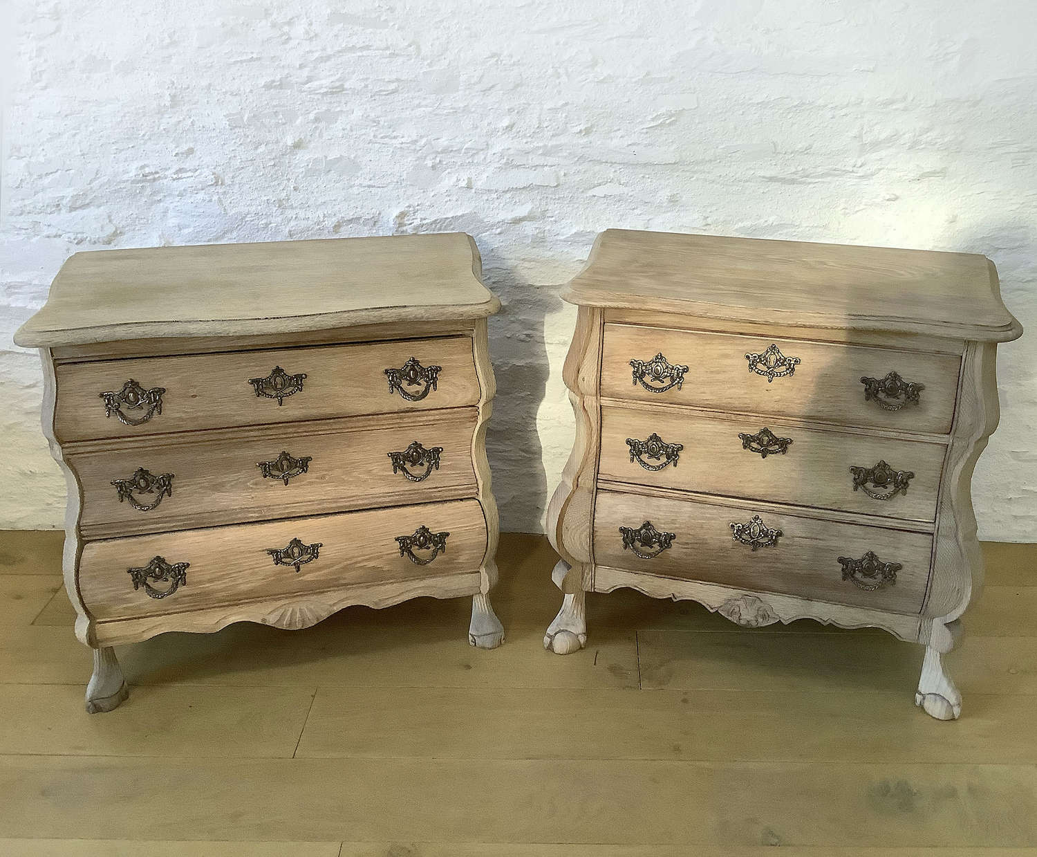 Near pair of Small oak Dutch Commodes
