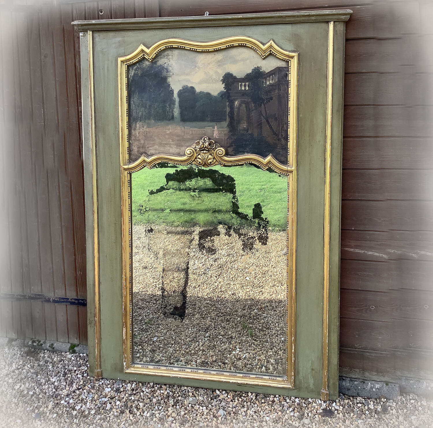 Large Late 19thC Trumeau Mirror