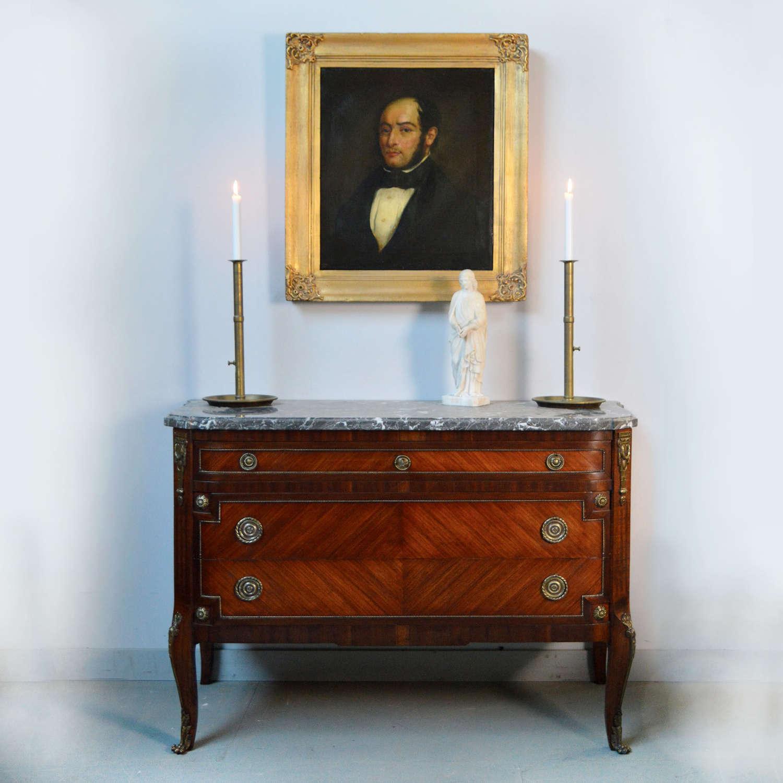 Louis XV/XVI transitional style Mahogany commode