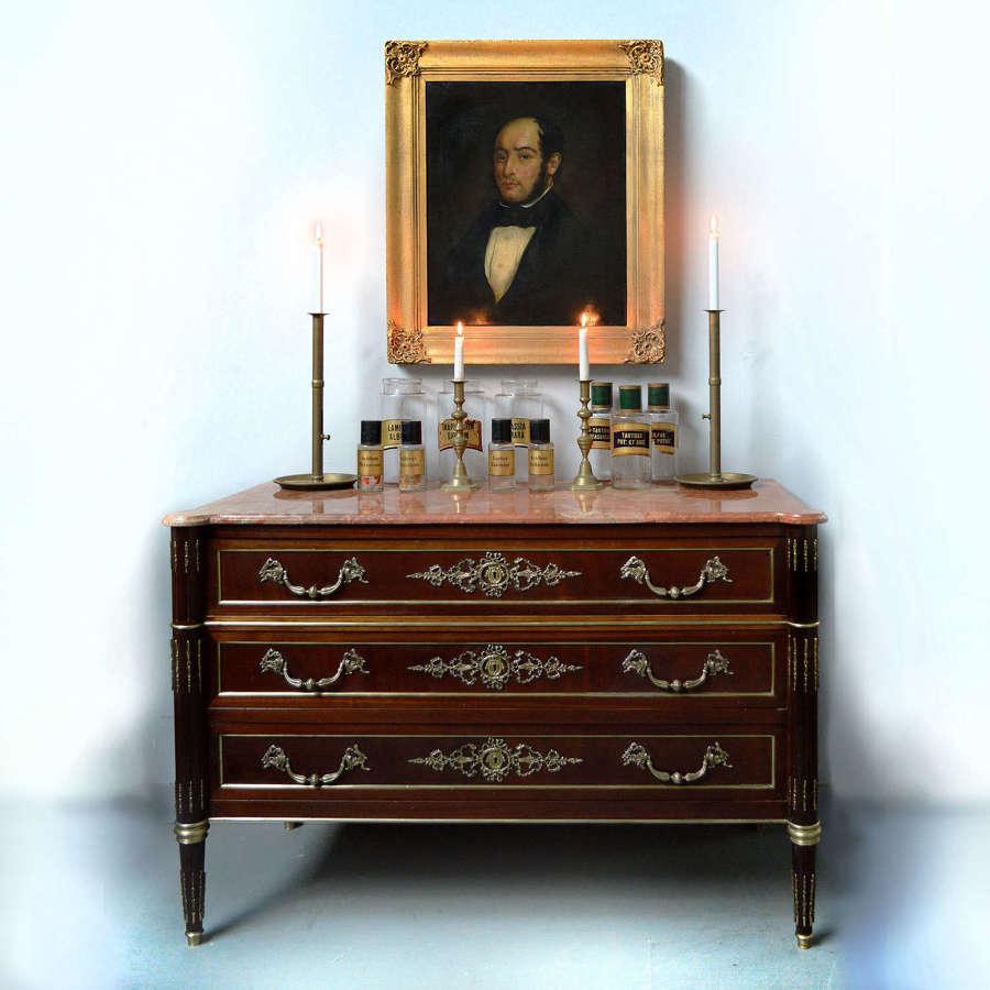 Louis XVI style mahogany commode