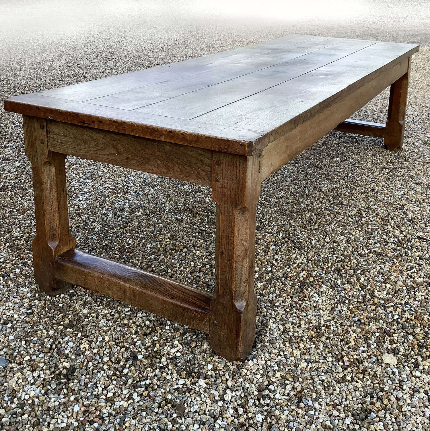 Exceptional Large 19th Century Oak Refectory Table