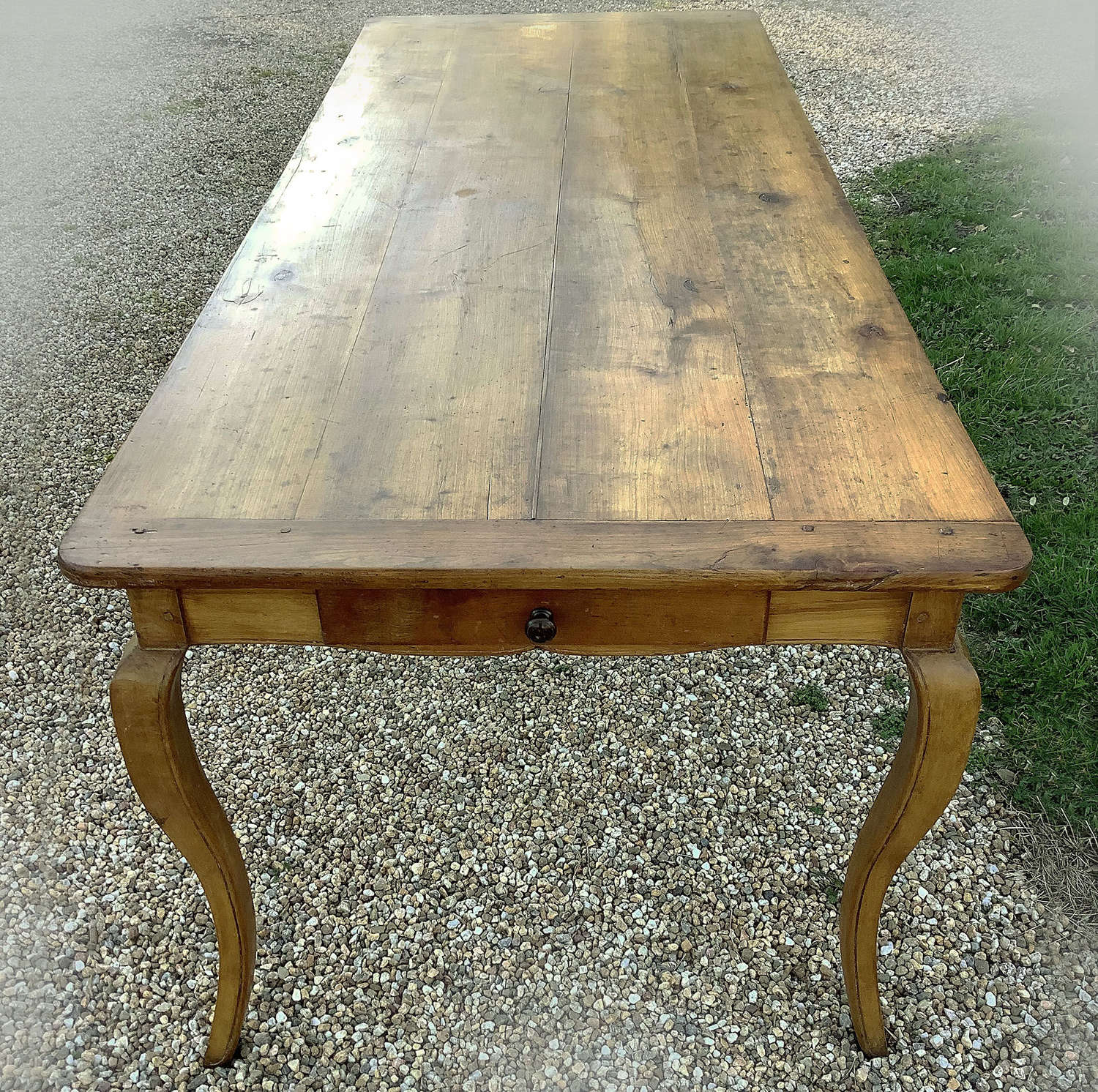 Large 19th Century cherry Louis XV style table