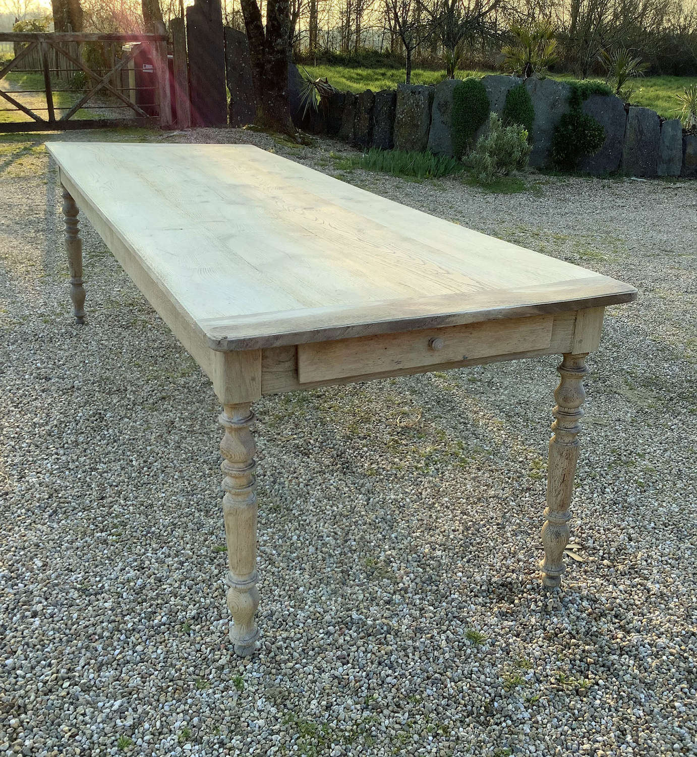 Large Smart Louis Philippe 19th Century Kitchen Prep table