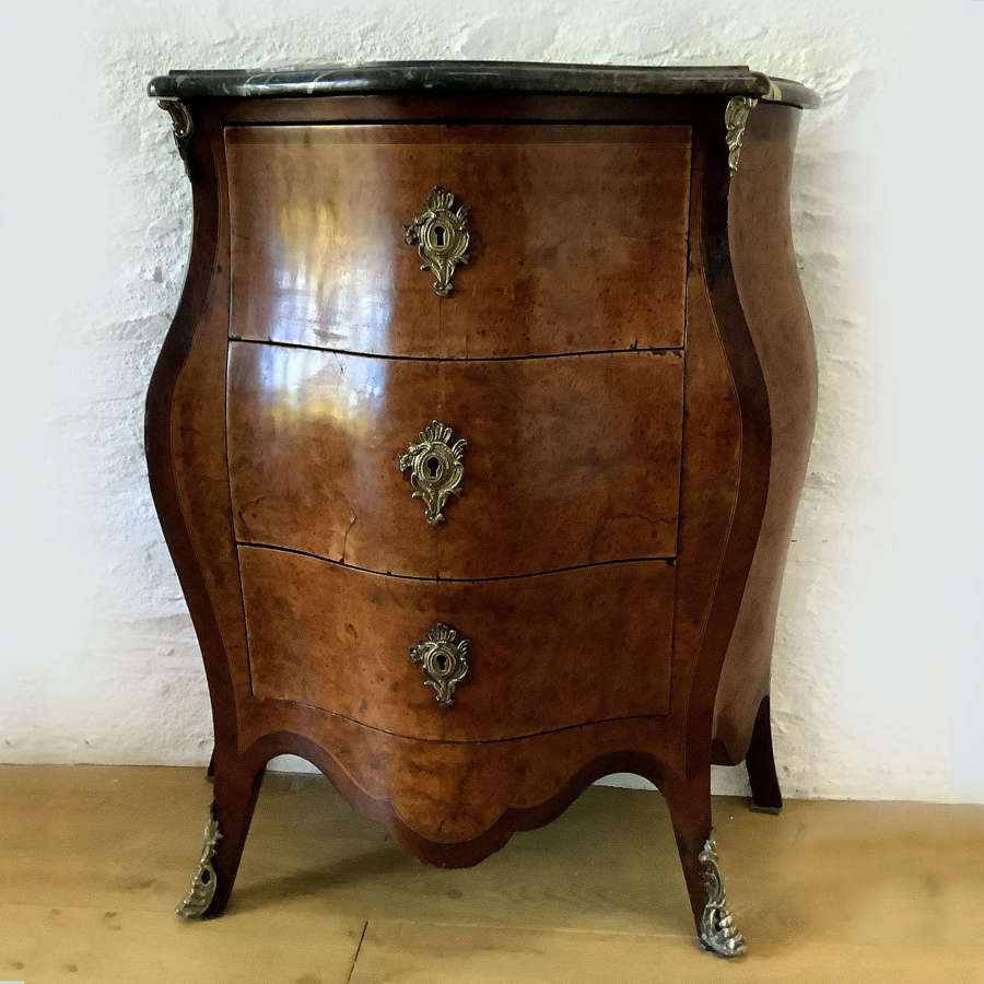 19th Century Louis XV style bombe Commode