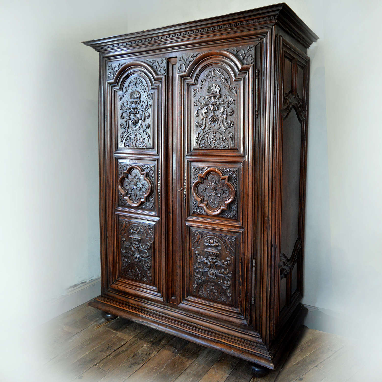Large 18th Century Louis XIV walnut armoire