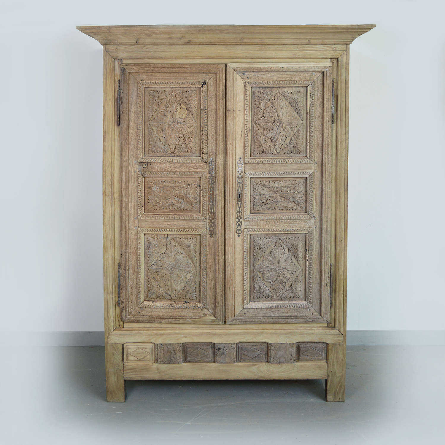 Late 18th Century Bleached Oak Armoire