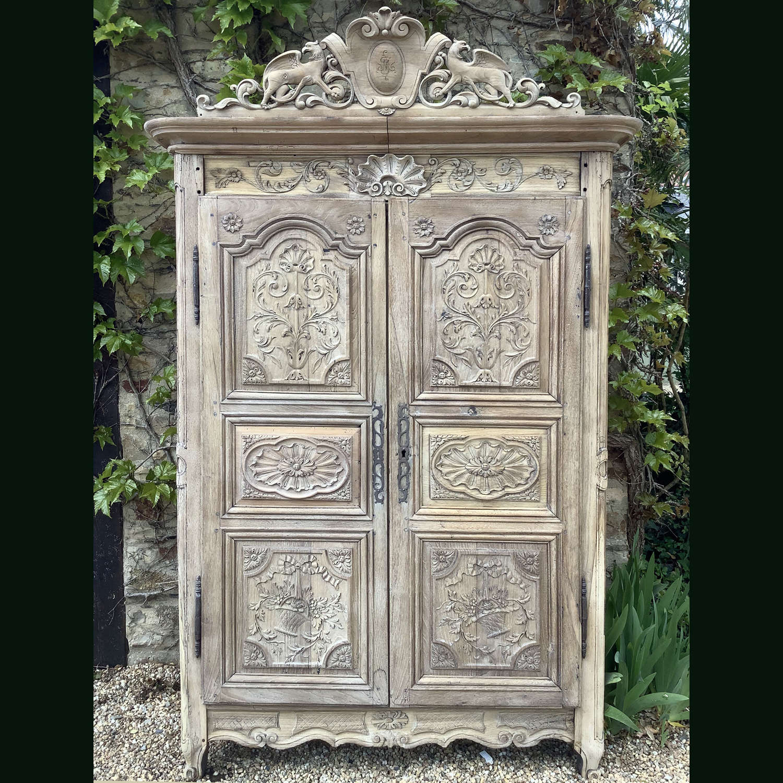 18th Century Louis XV provincial armoire