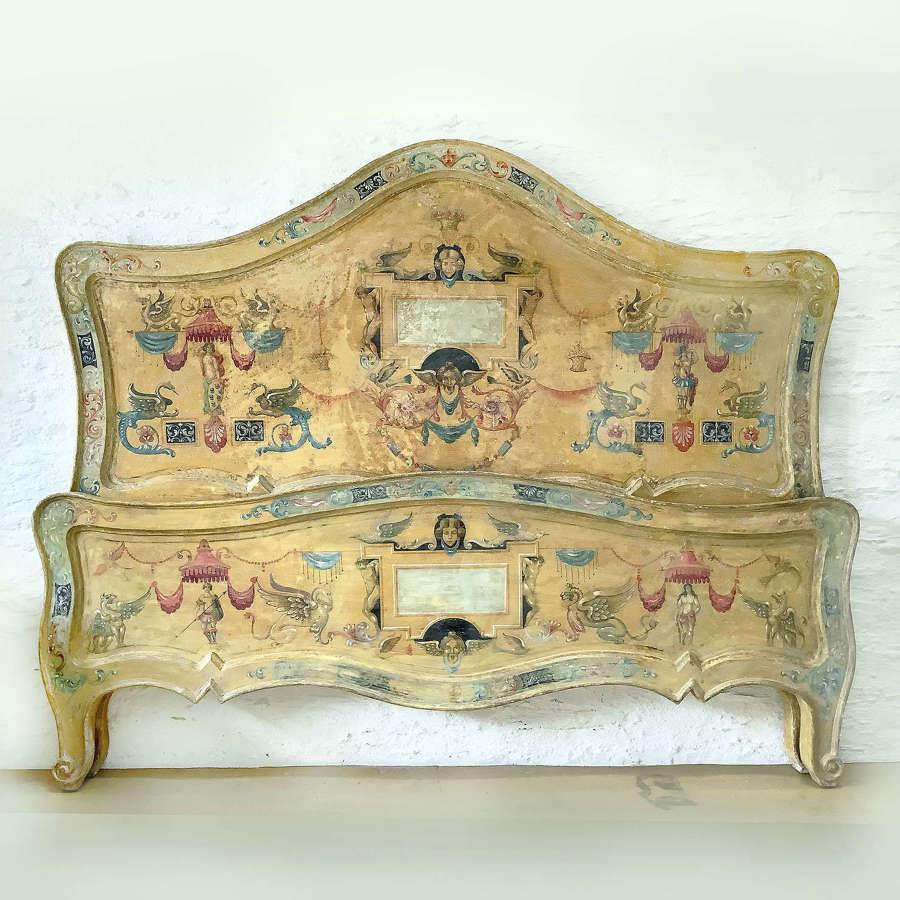 Venetian Hand Painted Super-king Bedstead c1920's