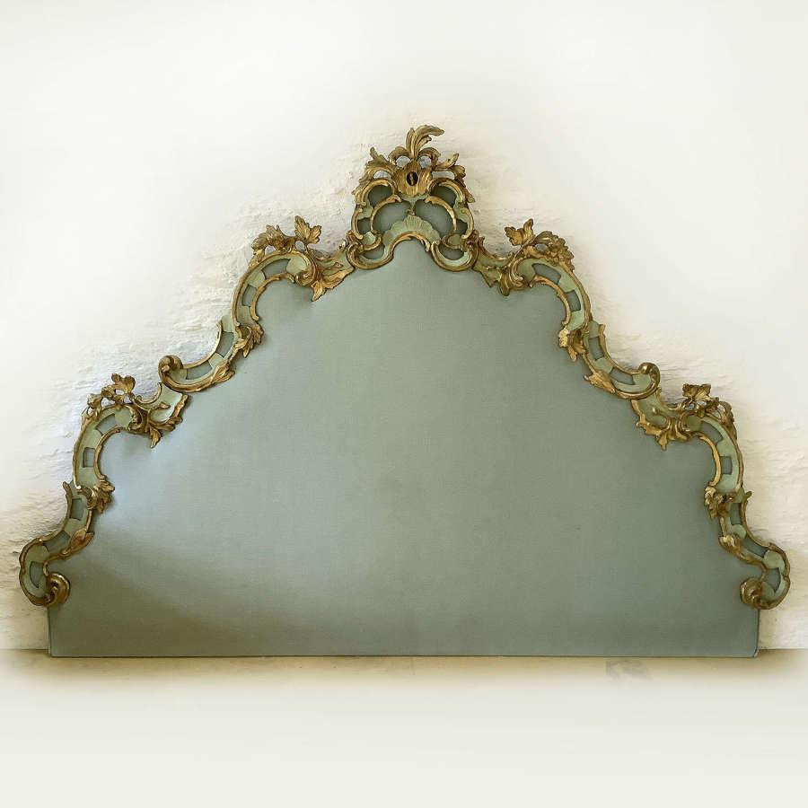 19th Century Louis XV style Venetian Gilt wood Headboard