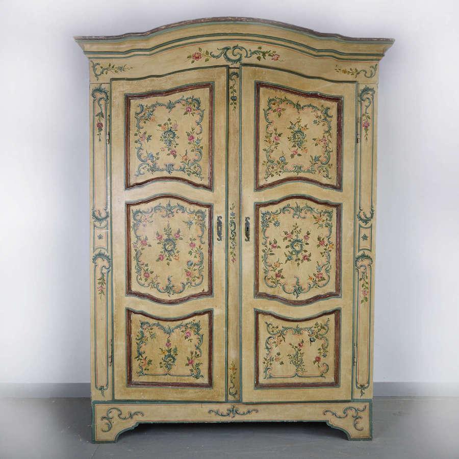 Rare 18th Century North Italian Armoire