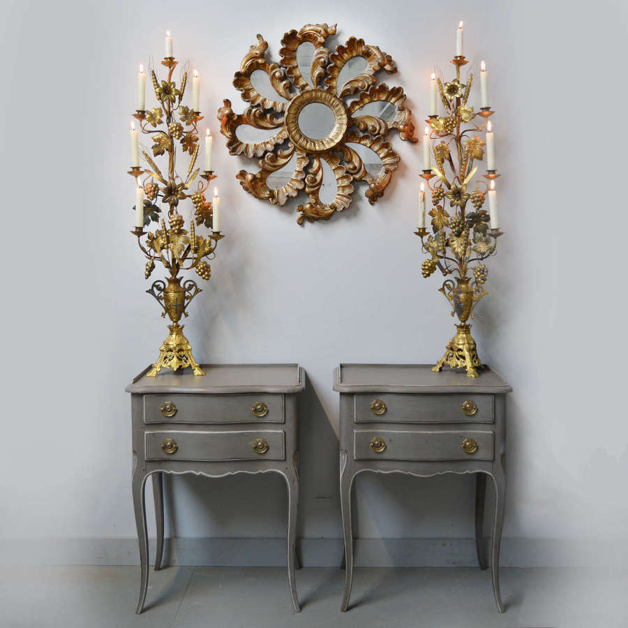 Pair of Louis XV style lamp tables