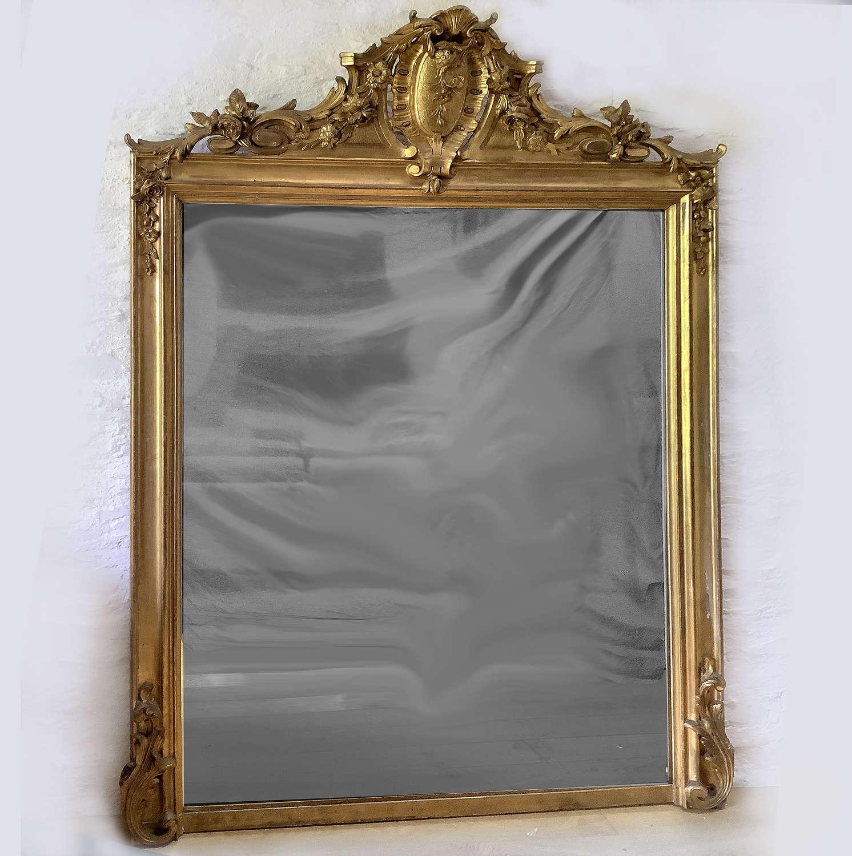 Grand scale Mid 19th Century Gilt Mirror